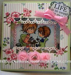 Blankina creations: Passepartout card Marianne Design Don and Daisy
