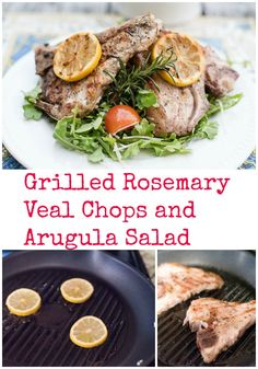over arugula salad and topped with grilled lemons and a homemade lemon ...