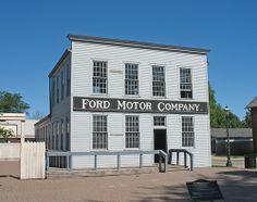 Replica of Ford Motor Company's original Mack Avenue plant, at Greenfield Village, in Dearborn. Dearborn Michigan, State Of Michigan, Detroit Michigan, Detroit Vs Everybody, Henry Ford Museum, Detroit History, Detroit Area, Ford Motor Company, Great Lakes