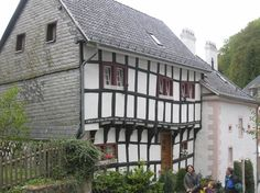 Old German home by Elaine