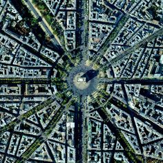 Arc-de-Triomphe. I have an entire book about Paris with photos only from above. A favorite.
