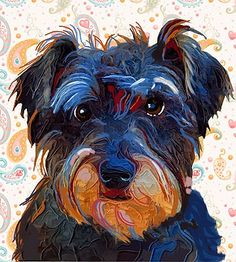 I know this is supposed to be a schnauzer - but it is the spitting image of my dog and she is a huntaway-cross (nz cattle-dog)