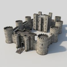 Medieval Castle Model available on Turbo Squid, the world's leading provider of digital models for visualization, films, television, and games. Fantasy Castle, Medieval Fantasy, Terrain 40k, Model Castle, Castle Project, Minecraft Castle, Chateau Medieval, Medieval Houses, Medieval Castle Layout