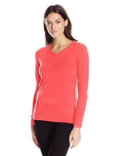 Women's Long Sleeve Ideal V-Neck Pullover Cashmerlon Sweater