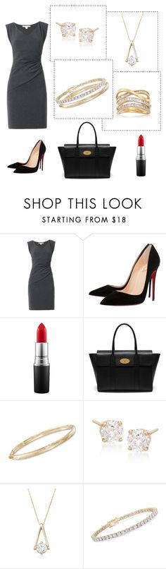 """Office Wear"" by rosssimons ❤ liked on Polyvore featuring Diane Von Furstenberg, Christian Louboutin, MAC Cosmetics, Mulberry and Ross-Simons"