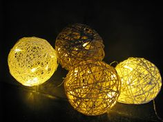 Ideas art for everyone, DIY - Joanna Wajdenfeld: How do baubles cotton-ball and other balls of string