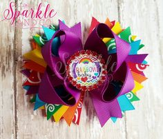 Check out this item in my Etsy shop https://www.etsy.com/listing/274821576/rainbow-baby-stacked-boutique-hairbow