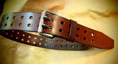 Brown Bridle leather belt 2 wide handmade by MataraCustomLeather