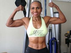 She's 74 Years old!!! 74!! If I do not look like this at that point in my  life I will be seriously disappointed with myself...