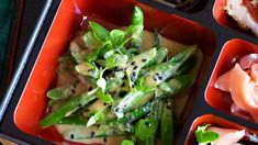 Green beans in sesame recipe : SBS Food Sesame Recipes, Beans Recipes, White Miso, Sbs Food, Greens Recipe, Asparagus, Green Beans, Nom Nom, Vegetarian