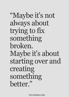 Starting Over Quotes Starting Over Quotes. Starting Over Quotes dont be afraid to start over it gives you a chance to dont be afraid to start over its a chance to build quotes Starting Over Quotes, Over It Quotes, Now Quotes, Life Quotes Love, Great Quotes, Quotes To Live By, Funny Quotes, True Quotes, Love Advice Quotes
