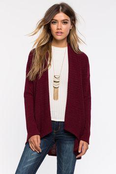 Кардиган Размеры: M, L Цвет: винный/бордо Цена: 1353 руб.     #одежда #женщинам #кардиганы #коопт