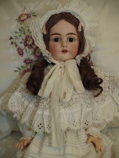 """Antique Kestner Large Size 28"""" with Antique Dress- Never a Reserve"""