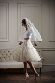 UK designers Needle & Thread launch their inaugural bridal collection with seven pieces form gowns to dresses, tulle skirts and beaded tops. Different Wedding Dresses, 2016 Wedding Dresses, Affordable Wedding Dresses, Wedding Gowns, Wedding Blog, Needle And Thread Wedding Dresses, Needle And Thread Bridal, Bridal Looks, Bridal Style