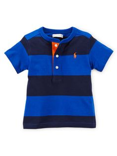 Striped Cotton Henley - Baby Boy Tees & Sweatshirts - RalphLauren.com