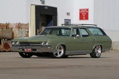 "Olive green machine. ""we need more hot rod station wagons"""