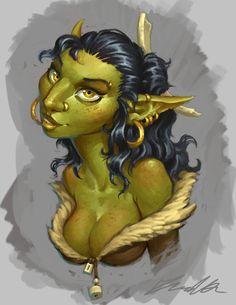 Goblin Babe by Trollfeetwalker