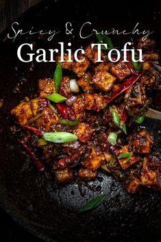 Tofu Recipes, Asian Recipes, Cooking Recipes, Healthy Recipes, Ethnic Recipes, Dinner Recipes, Tofu Dishes, Vegan Dishes, Recipes