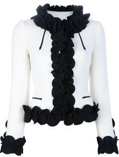 Moschino White Ruffle Blazer_ I want this!!!!