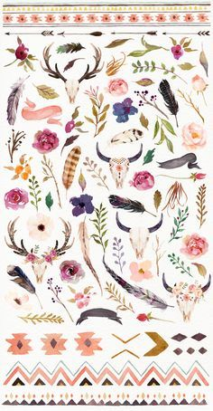 Illustrations Product Images ~ Watercolour Trib… ~ Creative Market