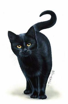 Cat Greeting Card Amber Eyes from Art by Irina Garmashova