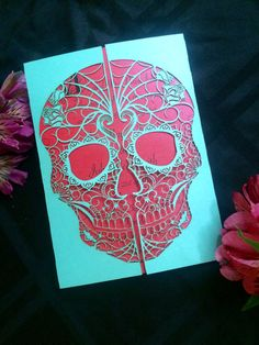 Day of the Dead Skull laser cut wedding by ShimmeringCeremony