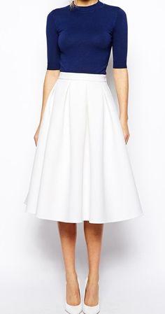 Mooie witte rok