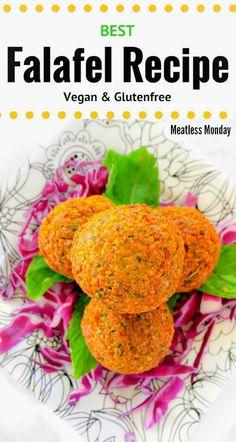 Best Falafel Recipe (Vegan and Glutenfree) : Meatless Monday : #falafel #meatless #monday #vegan #glutenfree