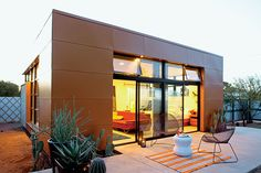 On of my Tiny House Living readers, Thomas, passed this story onto me. It's about a fellow named Aaron Jones who built a prefab kit home in Tucson, Arizona. The house was designed by architect Rocio Romero. The basic kit cost Aaron $22,050 and included the basic exterior shell of the home. The house took about 12 weeks to complete. Read more about this 625 Square Foot Prefab.