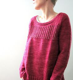 Cozy Afternoon is worked seamlessly from the top down. First, the yoke is worked…