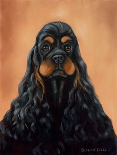Items similar to Cocker Spaniel black and tan head study portrait fine art print on Etsy Cocker Spaniel black and tan head study portrait fine art print<br> American Cocker Spaniel, Cocker Spaniel Puppies, English Cocker Spaniel, Springer Spaniel, Spaniel Breeds, Dog Breeds, Cockerspaniel, Dog Grooming Business, Dog Signs
