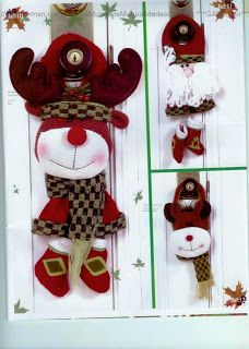 navidad con patrones: Renos Navideños Christmas Holidays, Christmas Crafts, Christmas Ornaments, Sewing Dolls, Santa, Wreaths, Home Decor, Holiday Decorations, Bb