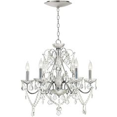 Vienna Full Spectrum Chrome Crystal Chandelier with LED Canopy ($550) ❤ liked on Polyvore featuring home, lighting, ceiling lights, chandeliers, decor, chrome chandelier, crystal chandelier lighting, warm white led lights, crystal chandelier light and chain lighting