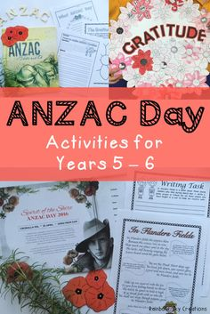 Check out these ANZAC day activities for primary students. They include poppies to wear / create a class wreath, writing tasks, In Flanders Fields poem study, maths activities and more. Worksheets are designed for kids to learn about the meaning of anzac day and the soldiers and heroes that attended world wars for Australia. Suitable for students in Grade 5 and Grade 6 {homeschool} Click the link to see full list of inclusions #rainbowskycreations Library Activities, Writing Activities, Activities For Kids, Teaching History, Teaching Kids, Kids Learning, Primary School, Primary Classroom, Anzac Day Australia