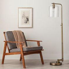 Hudson Industrial Floor Lamp - Brass (Includes CFL Bulb) - Threshold™