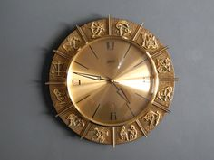 Rare beautiful 50s Atlanta Electric wall clock made of heavy