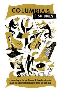Columbia's disc digest #illustration #modernist #retro