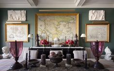 Alexa Hampton's New York Apartment - Katie Considers Plum Walls, White Walls, Hamptons New York, New York Apartments, Alexa Hampton, Manhattan Apartment, Country Interior, Old World Style, Neoclassical
