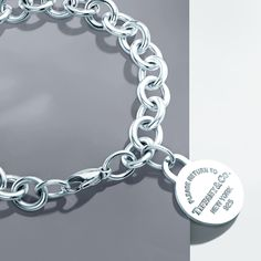 The enduring style of Return to Tiffany®: a bracelet in sterling silver. #TiffanyPinterest #silver #tagbracelet