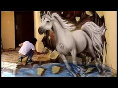Top 10 Amazing 3D Wall Painting - YouTube