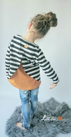 Nähanleitung für Kinder: Schlichtes Longshirt mit langen Ärmeln / diy sewing pattern for a longsleeve for kids made by petitetjolie via DaWanda.com
