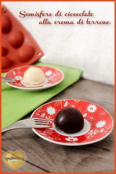 Semisfere di cioccolato con crema di torrone
