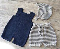 KNITTING PATTERN-Romper Shorts and Helmet P125 C