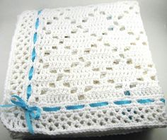 Manta;  diamonds baby blanket
