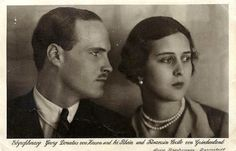 On 2 February 1931 Hereditairy Grand Duke Georg Donatus of Hesse-Darmstadt married princess Cecilia of Greece & Denmark, daughter of Prince Andrew of Greece and Princess Alice Mountbatten. Young Prince Philip, Prince Phillip, Prince Andrew, Reine Victoria, Queen Victoria, Grand Duc, Ile De Wight, Ludwig, Portraits