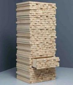 Piled wood dresser.......