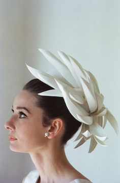 Audrey in hat by Givenchy, Howell Conant.