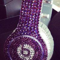 Beats by Dre Bling Purple Love, All Things Purple, Shades Of Purple, Pink Purple, Purple Stuff, Cheap Beats, Music Headphones, Beats By Dre, Purple Reign