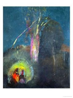 The Flight to Egypt Giclee Print by Odilon Redon at Art.com