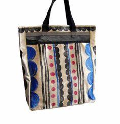 Borsa shopping  borsa a mano  vorsa colorata  borsa di BAGSaraGui